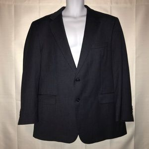 Jos A Bank Gray Wool Cashmere Jacket 46R